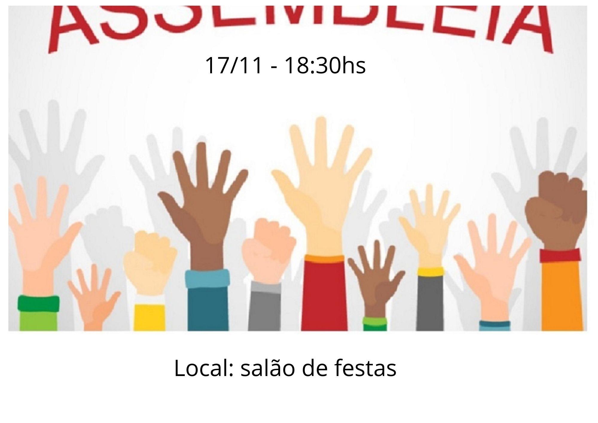 Assembleia Geral Extraordinária - 17/11 - 18:30hs